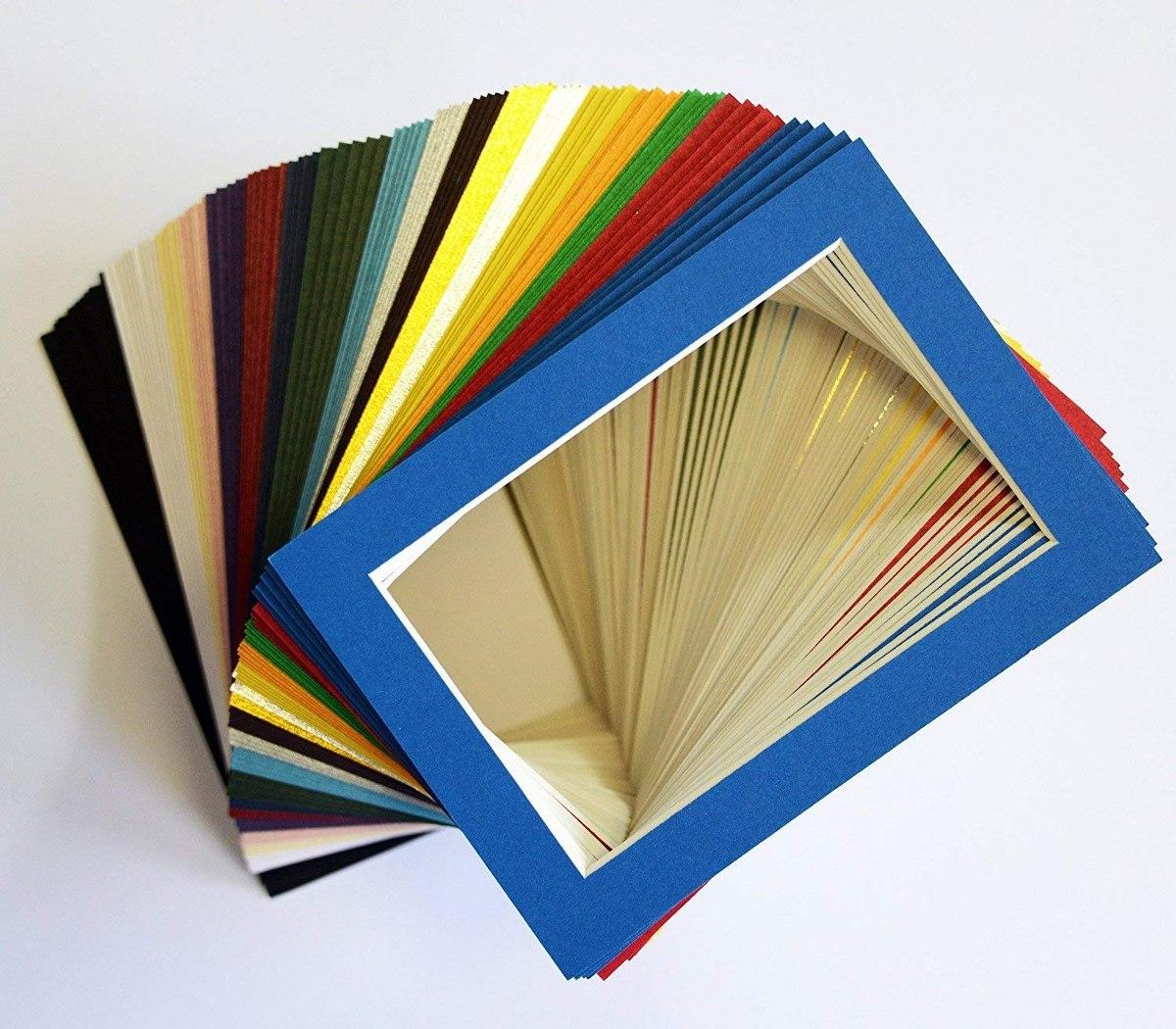 Pack De 100 Juegos De 5x7 Colores Mezclados Cuadro Mats Matt ...