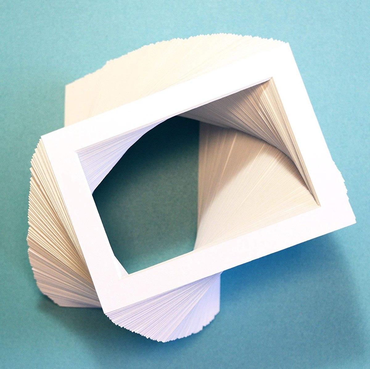 Pack De 100 Juegos De 5x7 Fo Blanco Imagen Mats Estera Matte ...