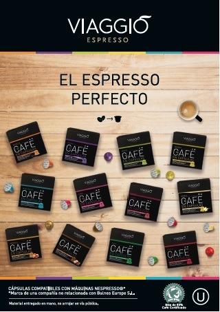 pack de 120 capsulas café viaggio compatible con nespresso