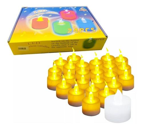 pack de 120 velas led blanca calido incluye pilas