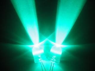 pack de 16 leds super alto brillo verdes 10mm 160,000mcd