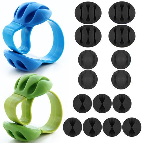 pack de 17 sujetacables, danzix adhesivo de silicona durabl