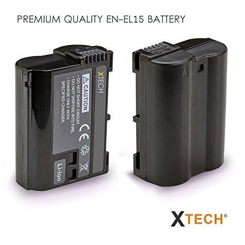 pack de 2 baterias de alta capacidad enel15 para nikon d850