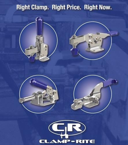 pack de 2 clamp-rite 11018cr clamp manual  375 lbs.