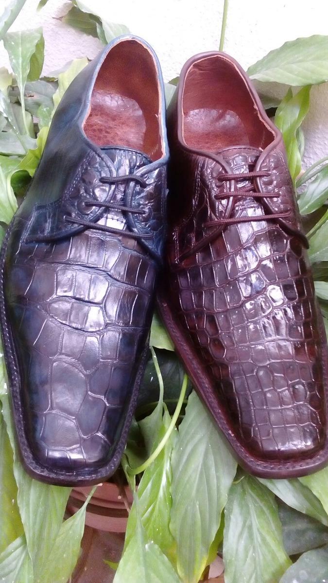90598149 Pack De 2 Pares De Zapato Exotico Panza Cocodrilo - $ 3,500.00 en ...
