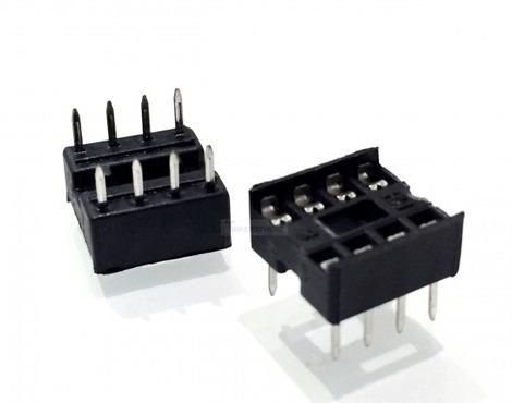 pack de 2 und base socket portaintegrado 8 pines dip-8