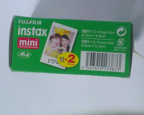pack de 20 fotos para camaras fuji instax mini