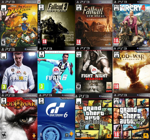 pack de 3 - 5 - 10 - 15 juegos digitales ps3