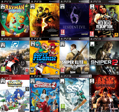 pack de 3 - 5 - 10 - 15 juegos digitales ps3