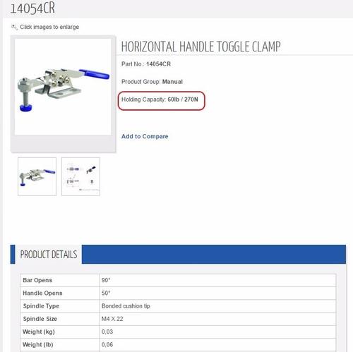 pack de 3 clamp-rite 14054cr clamp manual  60 lbs.