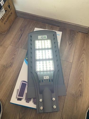pack de 3 focos solares 60w panel solar con sensor y soporte