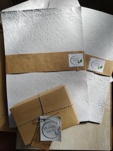 pack de 3 hojas a4 de papel plantable. se puede imprimir.
