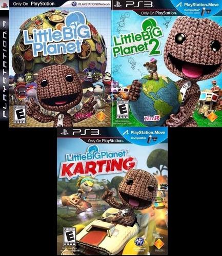 pack de 3 juegos little big planet ~ ps3 digital español