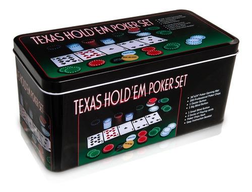 pack de 3 poker 200 ficha+ paño black jack+2 masos nuevo