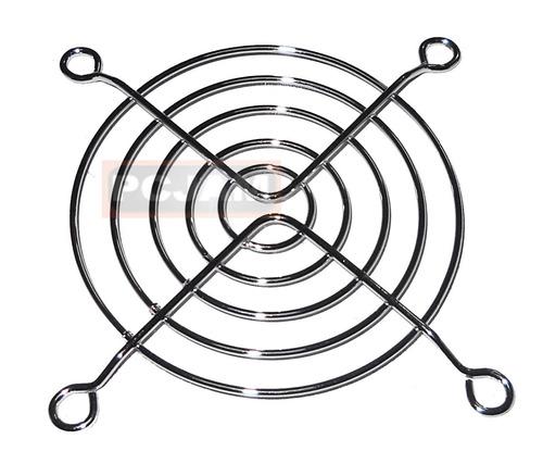 pack de 3 rejillas para ventilador de 8x8 cm, cromada