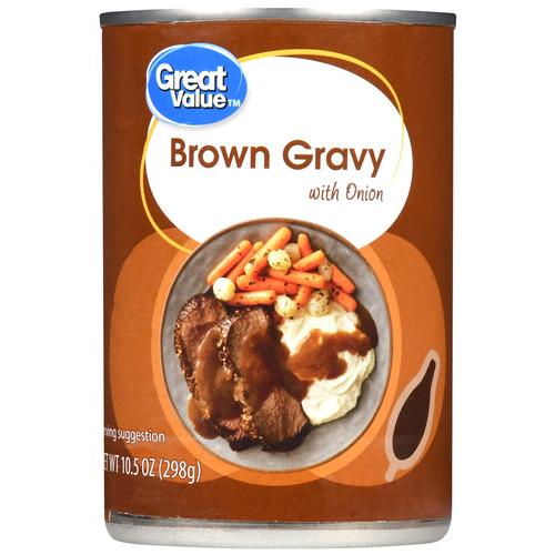 pack de 3 salsa marrón con cebolla 10.5 onzas great value