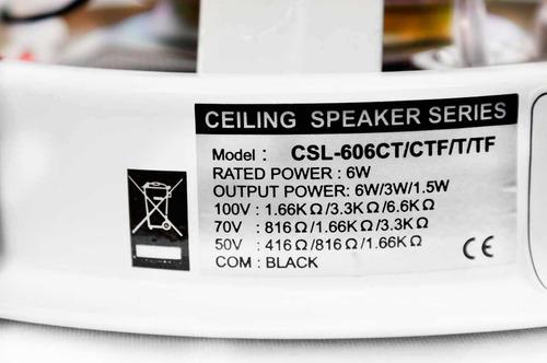 pack de 4 bocinas 6.5  plafon c/ super potencia-acústico
