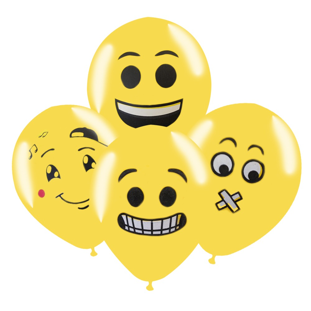 9fe0562650b Pack De 4 Globos Emoticon Latex R10 Cotillon Fiestaclub - $ 790 en ...