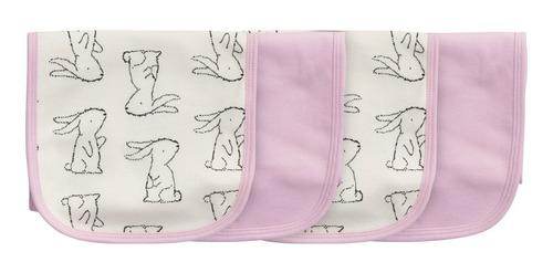 pack de 4 provecheros para bebés algodón conejitos gerber