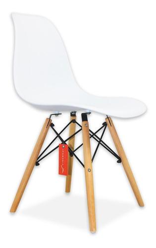 pack de 4 sillas vincenzi eames berlín blancas / r4209