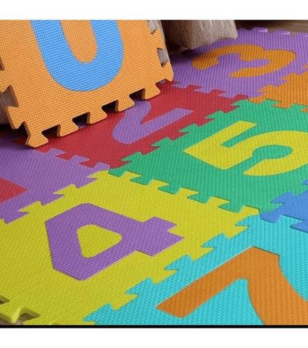 pack de 5 alfombra piso goma eva niños set 10 cuadros 30x30