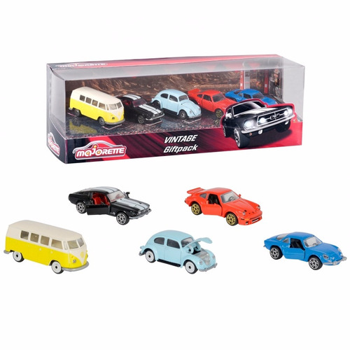 pack de 5 autos clásicos majorette - oferta