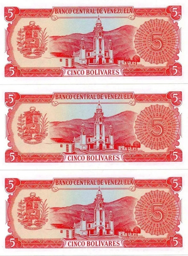 pack de 5 billetes 50 y 5 bolivares