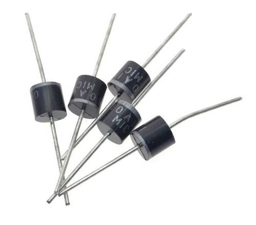 pack de 5 diodos rectificadores, 1000v, 10a, r6 - tienda8