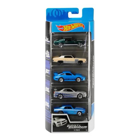 Pack De 5 Hot Wheels - Fast And Furious - Velozes E Furiosos