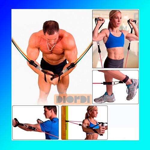 pack de 5 ligas/banda para ejercicio fitness yoga pilates