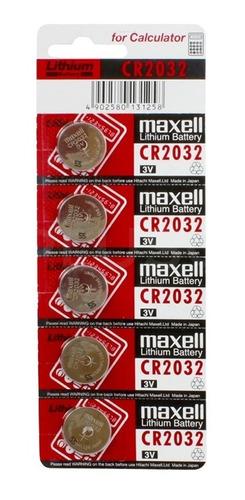 pack de 5 pilas modelo cr 2032 cr2032 3v tipo boton maxell
