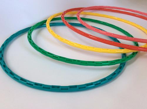 pack de 6 aros ula hula irromplibles pvc 60 cm aro inyectado