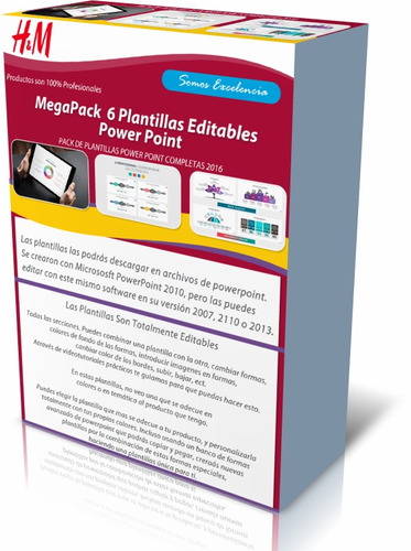pack de 6 plantillas power point presentaciones