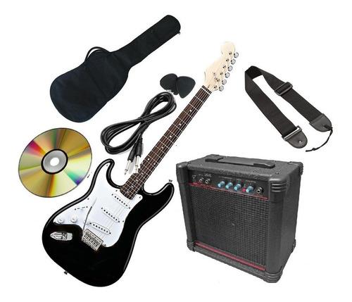pack de guitarra eléctrica para zurdo con amplificador