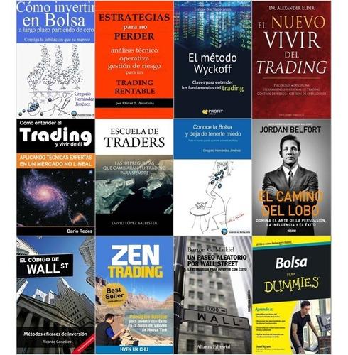 pack de libros de trading, bolsa, mercados