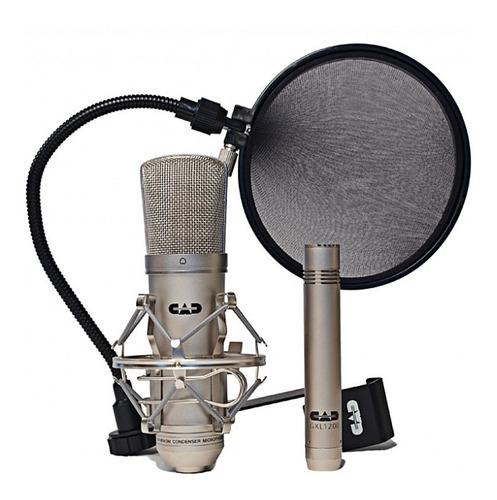 pack de micrófonos cad audio gxl2200, gxl1200, antipop epf15