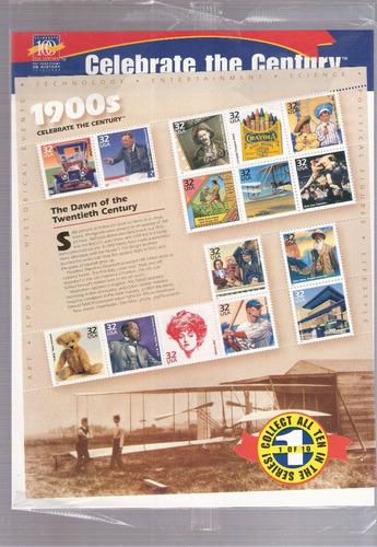pack de selos dos estados unidos - história século parte 1