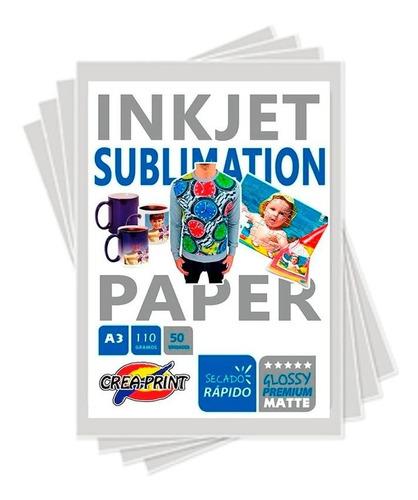 pack de sublimacion 100 hojas a4 + pack de tintas + tape