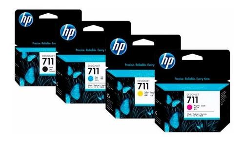 pack de tintas hp 711 negro 80ml + 711 colores 29ml