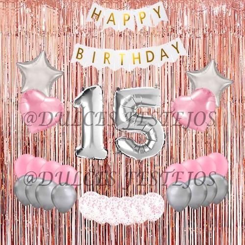 pack decorativos cumpleaños globos fiestas eventos sorpresas