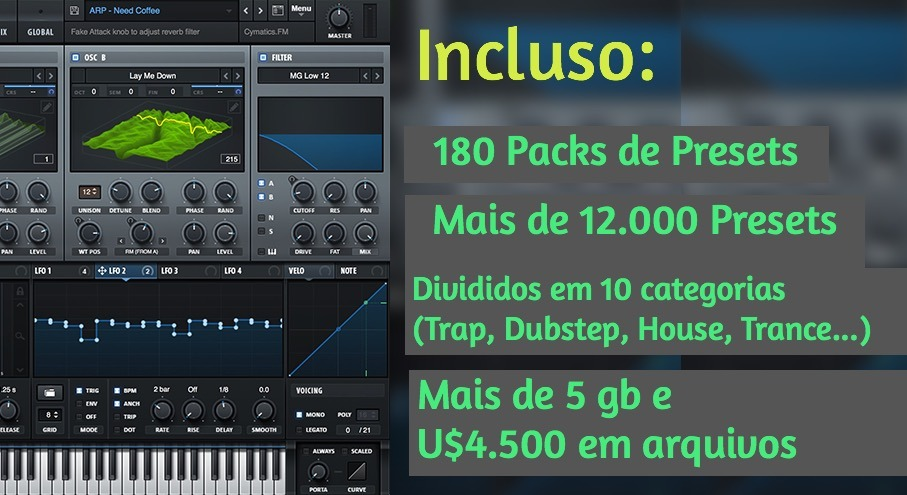 Pack Definitivo De Presets Para Serum 12000 Presets 5gb Vst