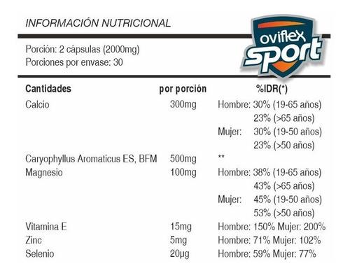 pack deportivo protector (ovicalm x3 + oviflex sport x3)