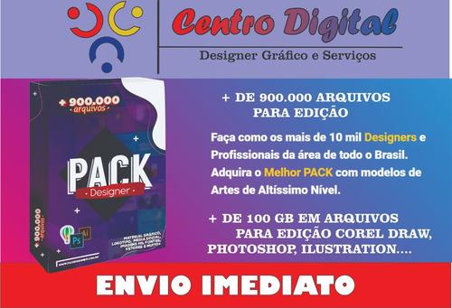 pack designer - pacote 100% editáveis em corel, photo, etc