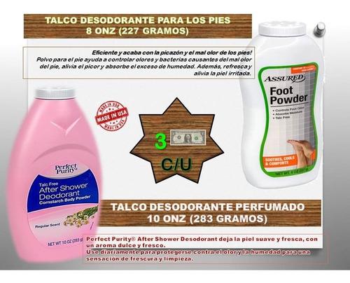 pack desodorantes speed stick - talco corporal y para pies