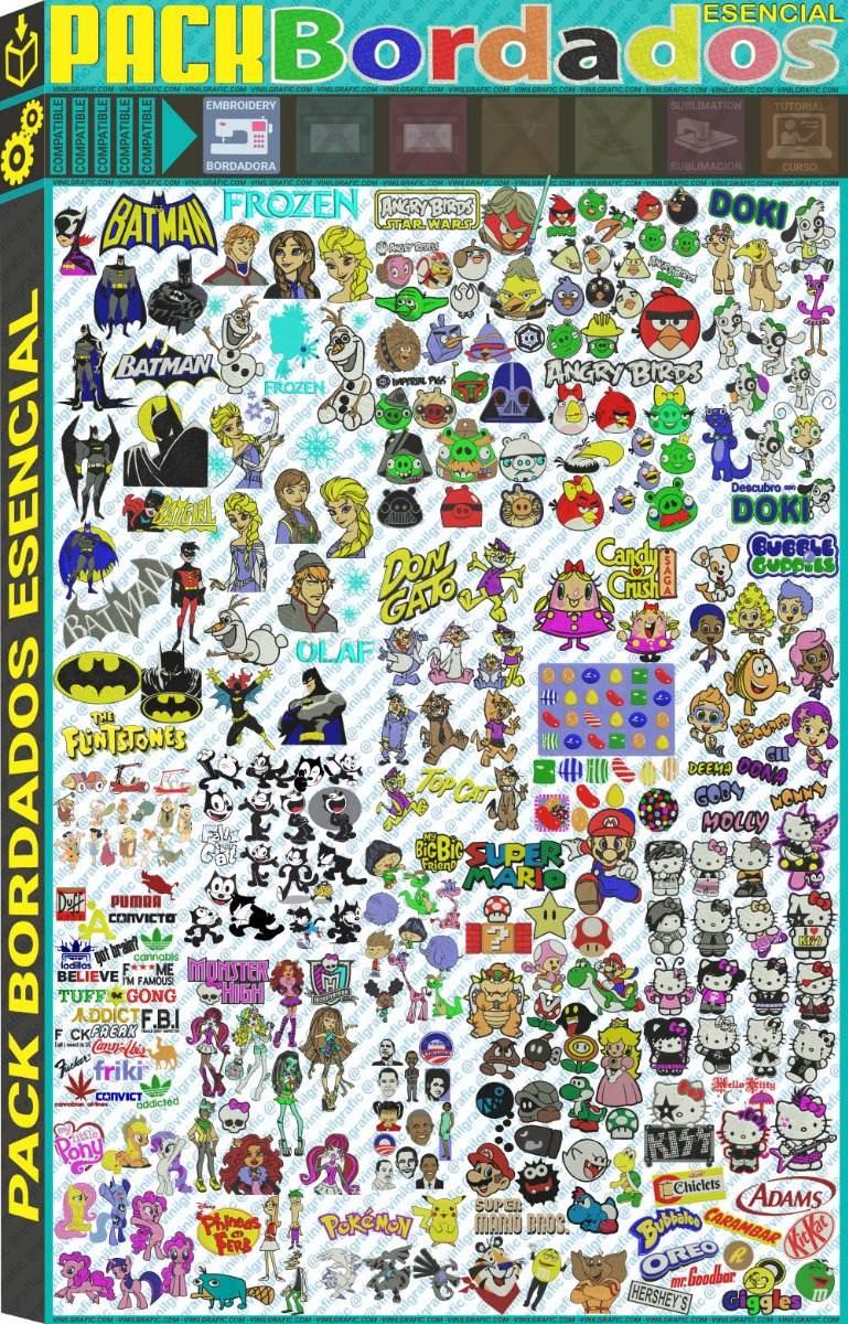 Pack Diseños Bordados Cartoons Brother Coser Hilo Patrones - $ 290 ...