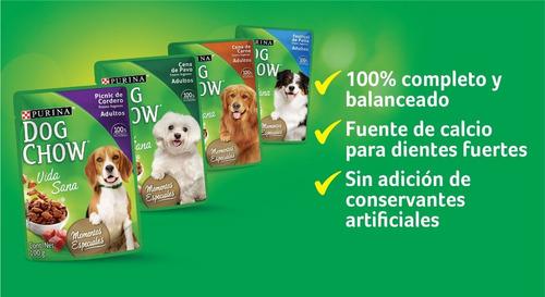 pack dog chow® adulto cena de carne 100g