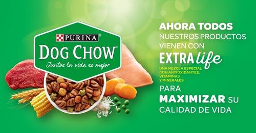 pack dog chow® adultos razas pequeñas carne y pollo 8kg