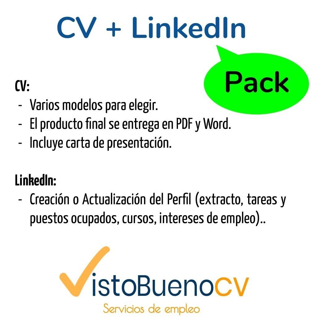Pack Elaboración De Cv Perfil Linkedin Incluye Perfil En Línea Cv En Pdf Y Word Carta De Presentación