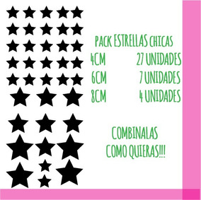 7b7f6a04ffed Pack Estrellas Chica Calcos Vinilos Stickers Pared Vidrio