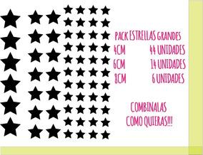 8dc9fb2ce06f Pack Estrellas Grande Calcos Vinilos Stickers Pared Vidrio